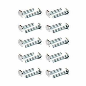 "POWERTEC QTB1007 T-Slot Bolts 5/16""-18 Thread Size T-Bolt 1.5 Inch Long – 20 ..."