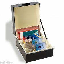 Leuchtturm Archivbox LOGIK, A5, schwarz für Postkarten Banknoten Briefe etc.