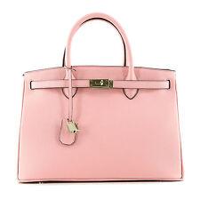 ROUVEN / Icone 35 Tote Bag / Ballerina Rosa & Gold / Leder Tasche Handtasche