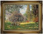 Monet The Park Wood Framed Canvas Print Repro 18x24