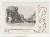 St Marys Street Cardiff Vintage Postcard Glamorgan South Wales 750b