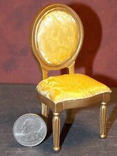 Dollhouse Miniature Dining Room Chair Gold  1:12 inch scale A26 Dollys Gallery