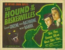 THE HOUND OF THE BASKERVILLES Movie POSTER 22x28 Half Sheet C Basil Rathbone