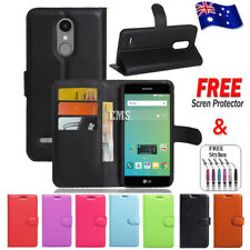 Wallet Leather Flip PU Case Cover For Telstra Signature 2 / LG K10 2017
