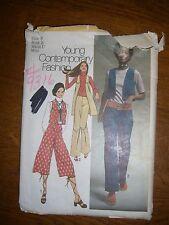 Simplicidad 9316 jóvenes Junior/adolescente & Hip Hugger misses Chaleco, pantalones, Gaucho 1971