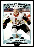 2019-20 UD OPC O-Pee-Chee Base Marquee Rookie #531 Vitaly Abramov