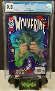 WOLVERINE #100 D CGC 9.8 HOLOGRAM VARIANT COVER NM/MT 1ST PRINT (1996) MARVEL