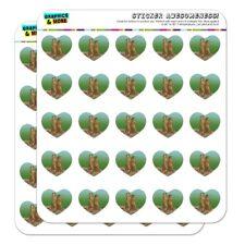Pair of Prairie Dogs Heart Shaped Planner Calendar Scrapbook Craft Stickers