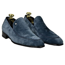 NEW ZILLI  SHOES SNEAKERS 100% LEATHER SUEDE + OSTRICH SZ 8 US 41 EU ZSU58