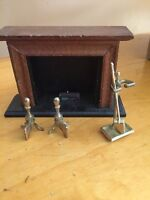 Wooden Fireplace & Tolls Measures  3Tall MSR Doll House Furniture GB8