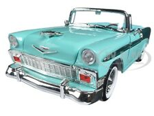 1956 CHEVROLET BEL AIR CONVT GREEN/DARK GREEN 1:18 BY ROAD SIGNATURE 92128