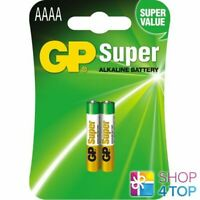 2 GP SUPER ALKALINE AAAA BATTERIES BLISTER 25A LR8D425 LR61 1.5V EXP 2021 NEW