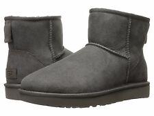 Women's Shoes UGG CLASSIC MINI II Slip On Sheepskin Ankle Boots 1016222 GREY