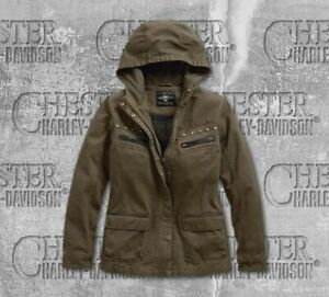 Harley Davidson Womens Over-Dyed Hooded Jacket HD-97478-19VW