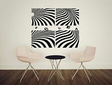 Wall Stickers Vinyl Decal Beautiful Zebra Illusion Barcode Strip Fan (n031)