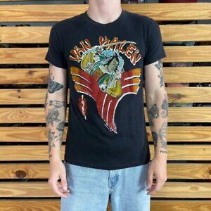 Van Halen Samurai Tour 1984 Mens Graphic T Shirt Black Red Crew Neck Vintage M