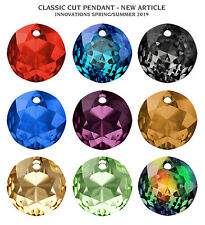 Genuine SWAROVSKI 6430 Classic Cut Crystal Pendants * Many Colors & Sizes