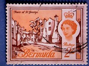 Bermuda. QE2 1962 2s Buildings. SG174. Wmk Ww12. P12½. Used.