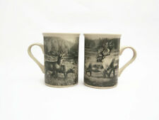 Set of 4 Mugs - DesignPac Field & Stream Collectible Coffee Cups - Caribou