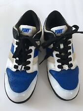 Mens PONY Sneakers, Black/blue/gray, Size 11 (US)