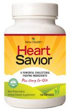 New Health Heart Savior Circulatory Cholesterol Blood Pressure Health 120 Caps