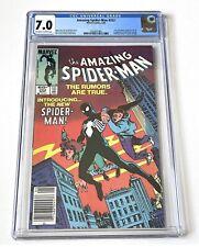Amazing Spider-Man 252 7.0 CGCOW/W - Newsstand