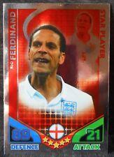 Rio Ferdinand England Star Player football trading card Topps 2010 World Cup