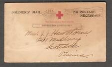 WWI Red Cross pc William A Hawthorne Det 2 Kelly Field Replacem to Scottsdale PA