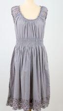 Joules Halton Womens Wrap Cotton Dress in Light Chambray Rose Size 12
