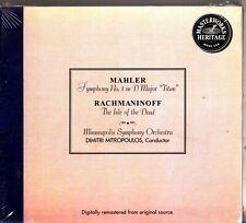 Mahler: Symphony No.1/Rachmaninov: Isle of the Dead MITROPOULOS MSO CD NEW
