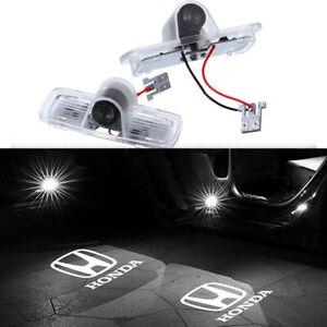 2x Logo LED Door Light Laser Projector HD For Honda Accord Crosstour Pilot White
