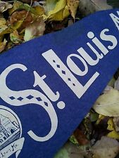 Vintage Union Station St. Louis pennant circa 1940's / 29 inches