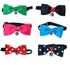 2er Set Katzenfliegen Collar Dog Bow Tie Bow Tie Loop Blue Red Black