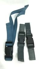 SET OF 3 HARTMANN SNAP-ON BUCKLES GRAY STRAPS Luggage Garment Bag Suitcase Part