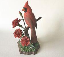 "Ohio Beauties Cardinal Bird w/ Carnationsby Bob Guge Danbury Mint 8 1/4"""