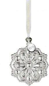 Waterford 2018 Silver Snowflake Christmas Ornament New In Box