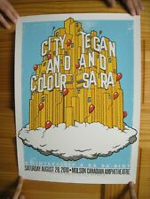 City And Colour Tegan And Sara Poster Silk Screen Signed Numbered 2010