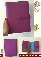 purple dark blue planner organizer A5 large desk size PU leather NEW 6ring