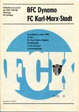 Programmheft, Juniorenoberliga, BFC Dynamo - FC Karl-Marx-Stadt 1986 /88