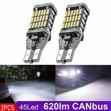 2pcs T15 921 912 4014 45 SMD LED Canbus Width Backup Reverse Light Bulb