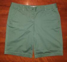 J.Crew Green Bermuda Walking Shorts Stretch Womens Size 2 EUC