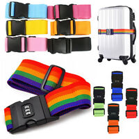 Adjustable Suitcase Luggage Baggage Straps Combination Lock Belt Tie Down Tape