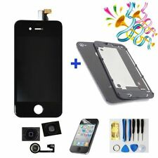 For iPhone4S Replacement LCD Touch Screen Digitizer Assembly  +back cover Black