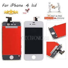 For iPhone 4 4G White LCD Display Touch Screen Glass Digitizer Lens Replacement