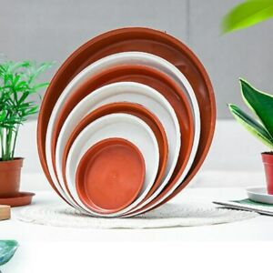 10x Round Flower Pot Saucer Base Plate Garden Plant Planter Drip Water Tray Home