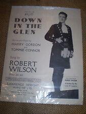 DOWN EN LOS GLEN,ROBERT WILSON, ORIGINAL 1947 HOJA HOJA MUSICAL. MUY BUEN ESTADO
