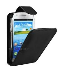 Black Flip PU Leather Pouch Case Cover For SAMSUNG GT-i8190 GALAXY S3 MINI