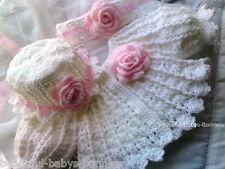 CROCHET PATTERN for Baby Girls Vintage Style Matinee Coat/Jacket Bonnet Set #25