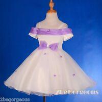 Rosette Occasion Wedding Flower Girl Bridesmaid Birthday Dress Age 2-9y FG277A