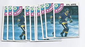 10 X 1978-79 TOPPS # 56 LA KINGS SYL APPS  CARD